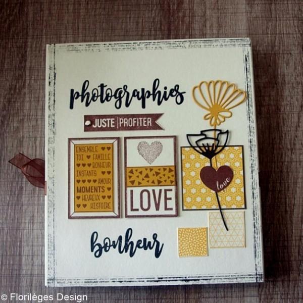 Tampon Bois Mini coeur Love - 3 x 3 cm - Photo n°4