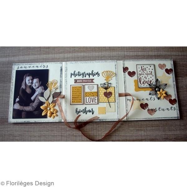 Tampon Bois Mini coeur Love - 3 x 3 cm - Photo n°6