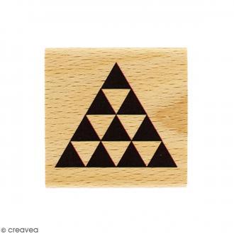 Tampon Bois Pyramide - 4 x 4 cm