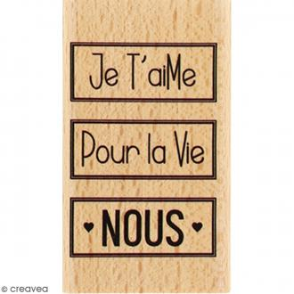 Tampon Bois Nous pour la vie - 4 x 7 cm