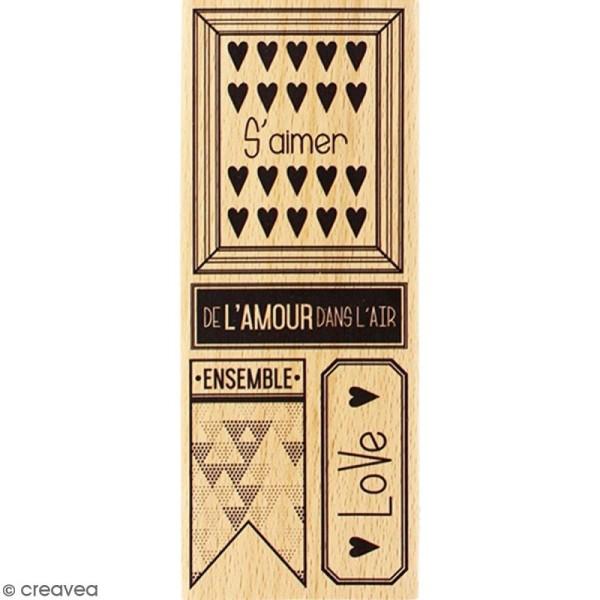 Tampon Bois De l'amour dans l'air - 6 x 15 cm - Photo n°1