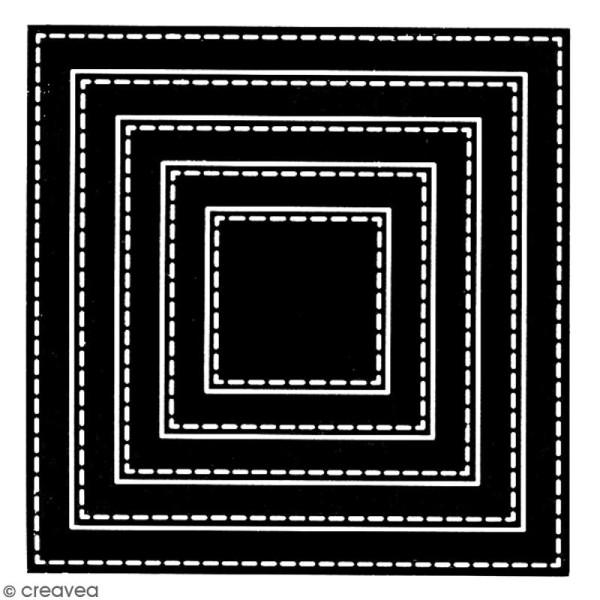 Dies Florilèges Design - Carrés basiques - 5 pcs - Photo n°2