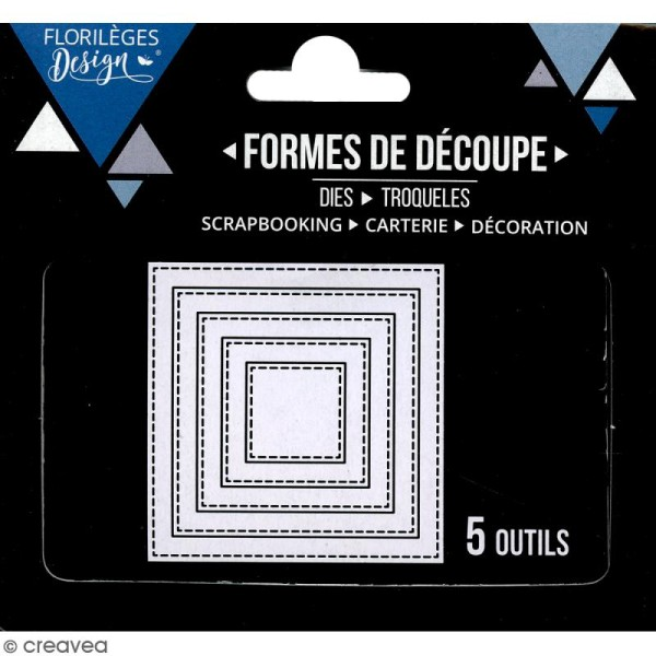 Dies Florilèges Design - Carrés basiques - 5 pcs - Photo n°3