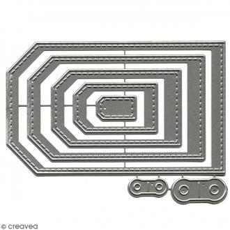Dies Florilèges Design - Tags basiques - 7 pcs