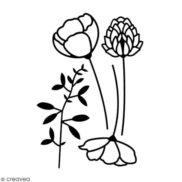 Dies Florilèges Design - Eclosion de fleurs - 4 pcs - Photo n°2