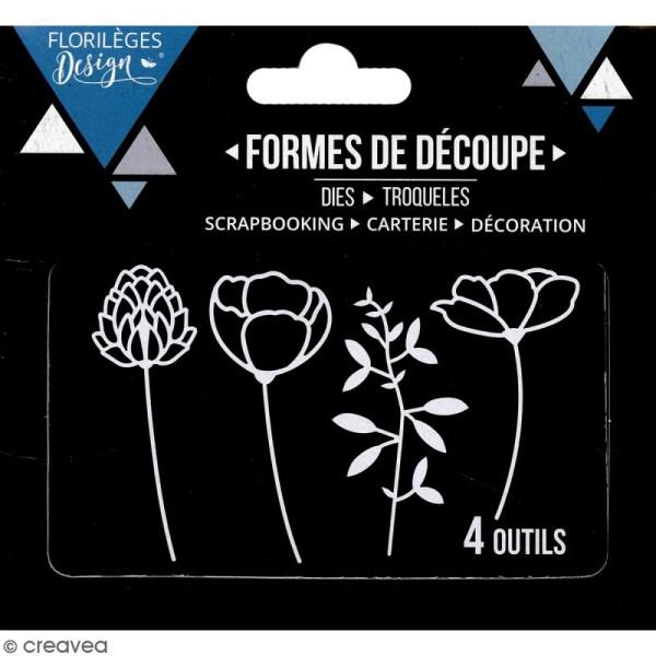Dies Florilèges Design - Eclosion de fleurs - 4 pcs - Photo n°3