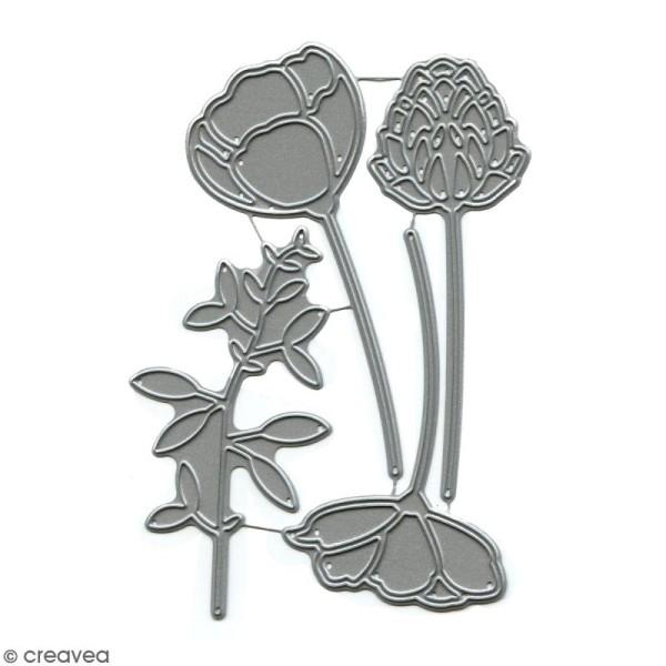 Dies Florilèges Design - Eclosion de fleurs - 4 pcs - Photo n°1