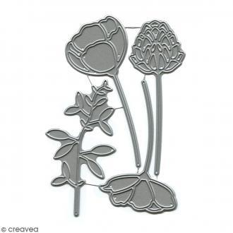 Dies Florilèges Design - Eclosion de fleurs - 4 pcs