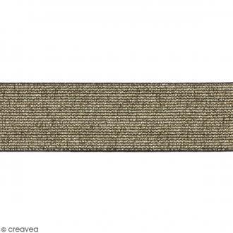 Ruban élastique - Doré - 40 mm - Au mètre (sur mesure)
