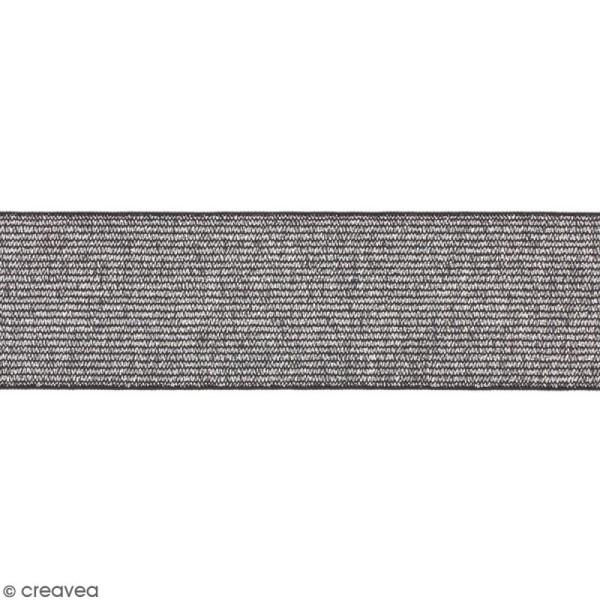 Ruban élastique - Argenté - 40 mm - Au mètre (sur mesure) - Photo n°1
