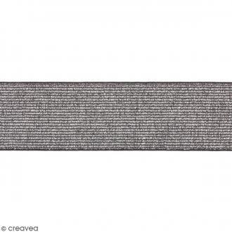Ruban élastique - Argenté - 40 mm - Au mètre (sur mesure)