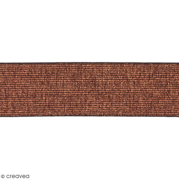 Ruban élastique - Bronze - 40 mm - Au mètre (sur mesure) - Photo n°1