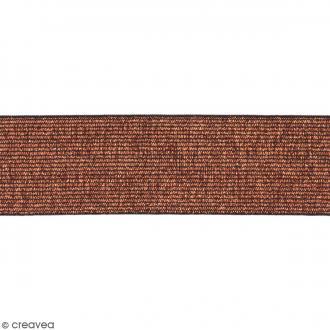 Ruban élastique - Bronze - 40 mm - Au mètre (sur mesure)