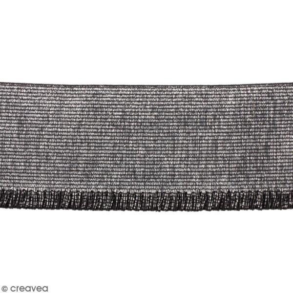Ruban élastique - Argenté - 60 mm - Au mètre (sur mesure) - Photo n°1