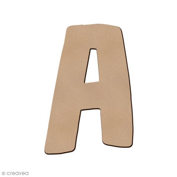 Lettre en bois A 7 cm - Photo n°1
