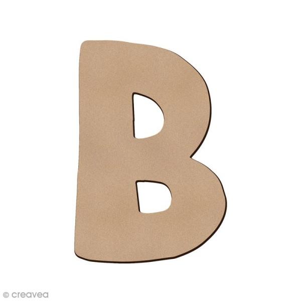 Lettre en bois B 7 cm - Photo n°1