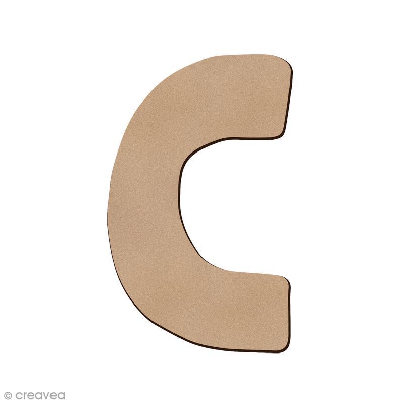 Lettre en bois C 7 cm - Photo n°1