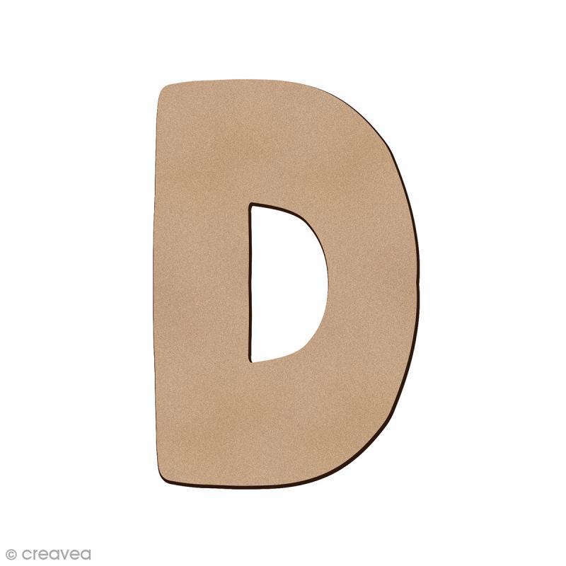 Lettre en bois D 7 cm - Photo n°1