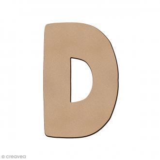 Lettre en bois D 7 cm