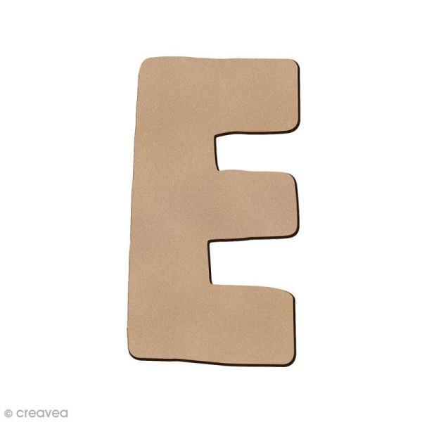 Lettre en bois E 7 cm - Photo n°1
