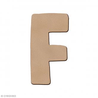 Lettre en bois F 7 cm