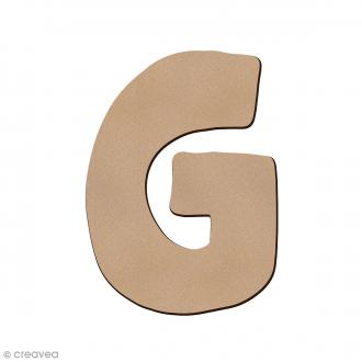 Lettre en bois G 7 cm