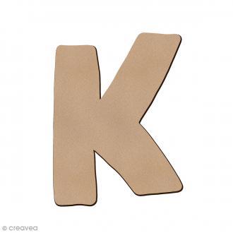 Lettre en bois K 7 cm