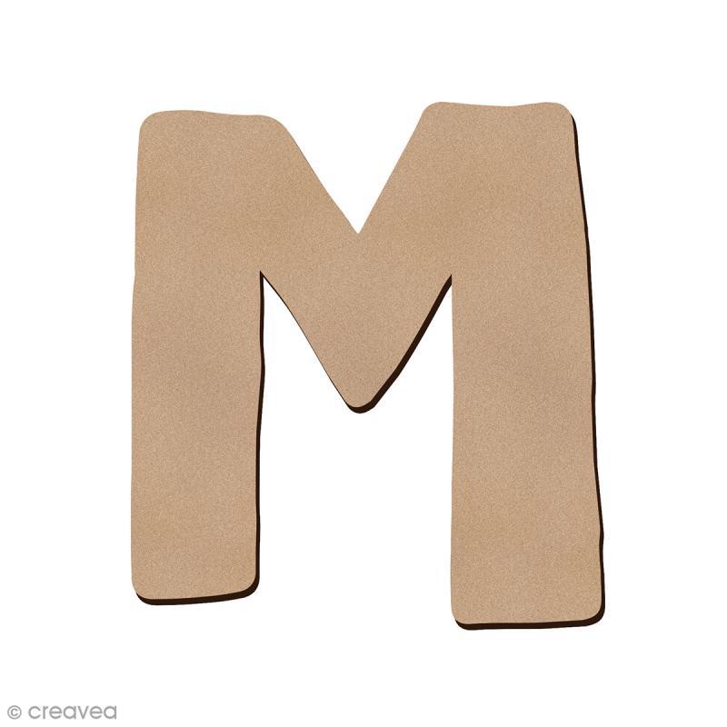 Lettre en bois M 7 cm - Photo n°1