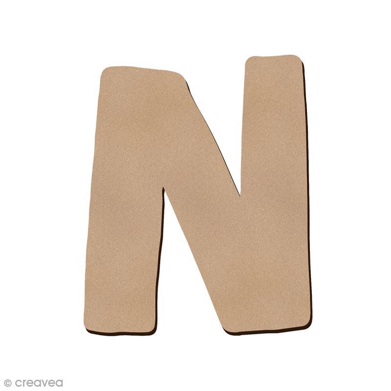 Lettre en bois N 7 cm - Photo n°1
