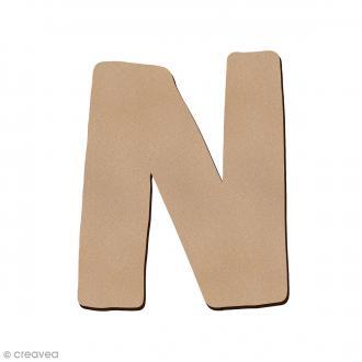 Lettre en bois N 7 cm