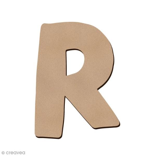 Lettre en bois R 7 cm - Photo n°1