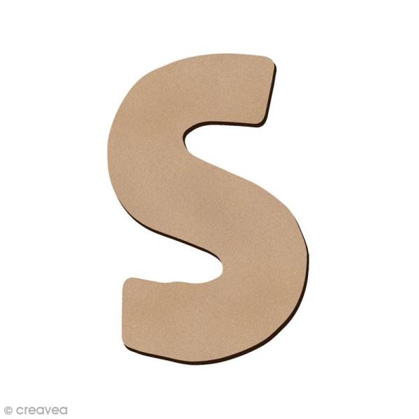 Lettre en bois S 7 cm - Photo n°1