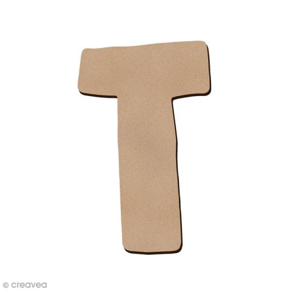 Lettre en bois T 7 cm - Photo n°1