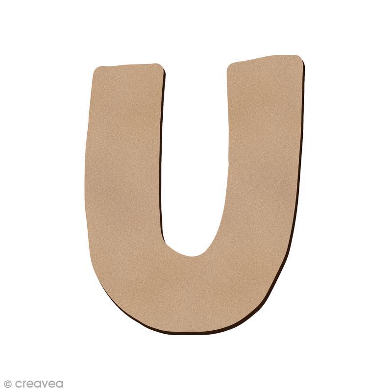 Lettre en bois U 7 cm - Photo n°1