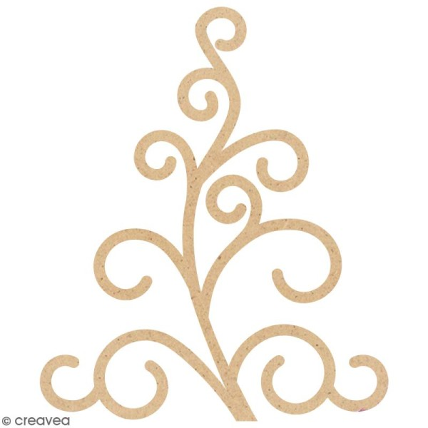 Forme Arabesque en bois à décorer - 4,7 x 3,9 cm - Photo n°1