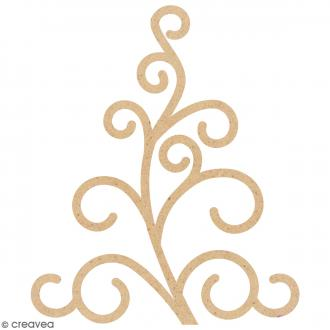Forme Arabesque en bois à décorer - 4,7 x 3,9 cm