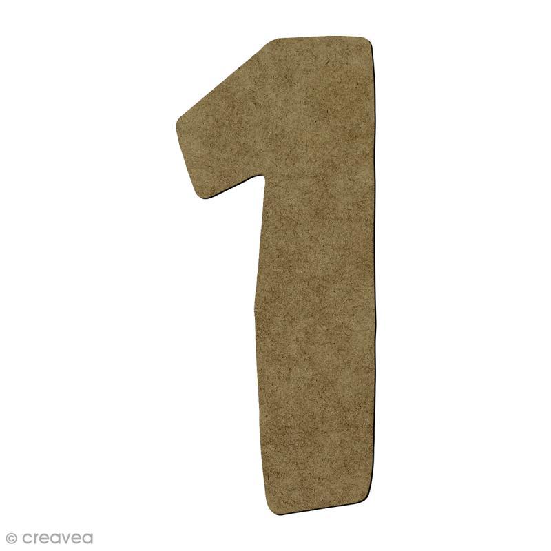 Chiffre en bois 1 - 7 cm - Photo n°1