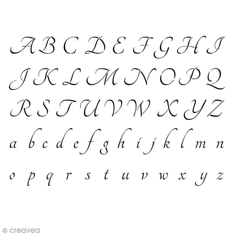 Pochoir multiusage Alphabet Tangerine - A4 (21 x 29,7 cm) - Photo n°1