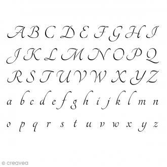 Pochoir Home Deco Alphabet Tangerine - A4 (21 x 29,7 cm)