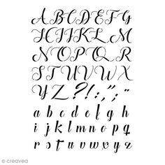 Gabarit polyvalent - Alphabet manuscrit - 29,7 x 21 cm (A4)