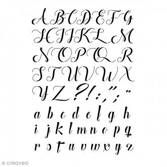 Pochoir Home Deco - Alphabet Manuscrit - 29,7 x 21 cm (A4)