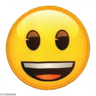 Ecusson thermocollant - Emoji content - 65 mm