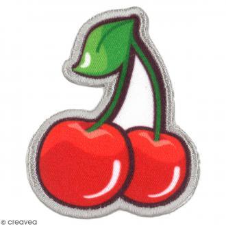 Sticker écusson 2 en 1 - Cerises - 60 x 46 mm