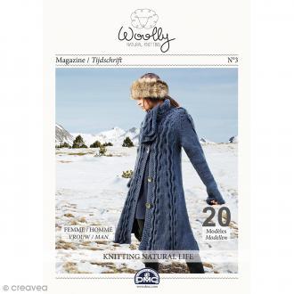 Catalogue tricot DMC - Woolly Natural Knitting - 20 modèles pour femme et homme