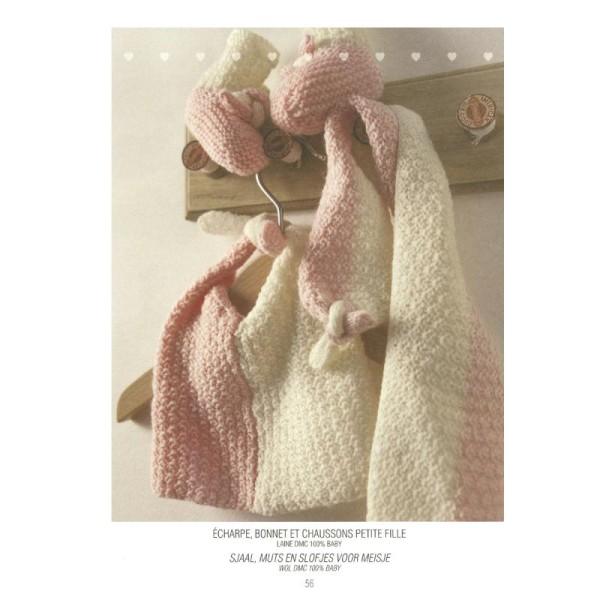 Catalogue tricot DMC - Créations bébé 0 à 6 mois - 8 looks - Photo n°2