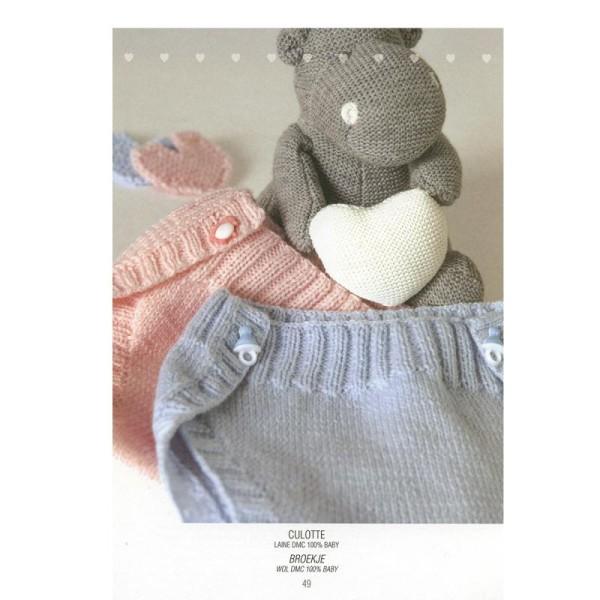 Catalogue tricot DMC - Créations bébé 0 à 6 mois - 8 looks - Photo n°3