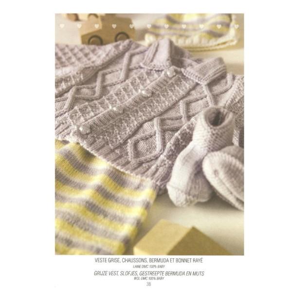 Catalogue tricot DMC - Créations bébé 0 à 6 mois - 8 looks - Photo n°4