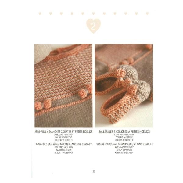 Catalogue tricot DMC - Créations bébé 0 à 6 mois - 8 looks - Photo n°6