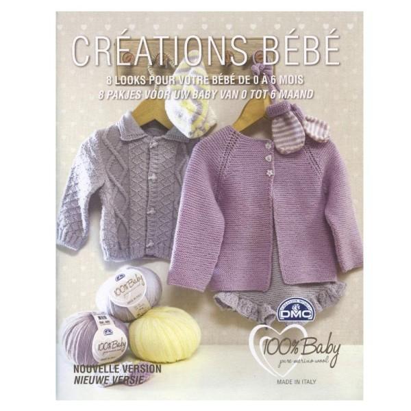 Catalogue tricot DMC - Créations bébé 0 à 6 mois - 8 looks - Photo n°1