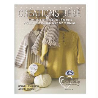 Catalogue tricot DMC - Créations bébé 6 à 18 mois - 8 looks